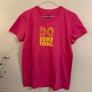 "Pink Nike Tee ""Do Something"""